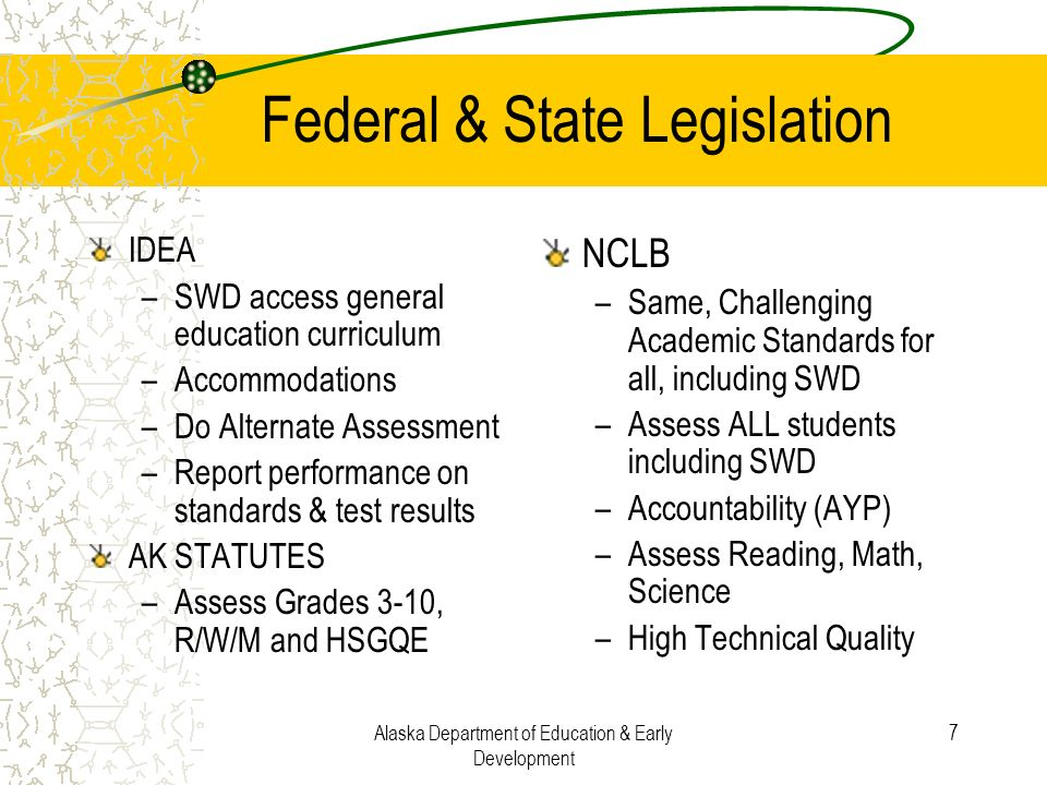 Federal & State Legislation