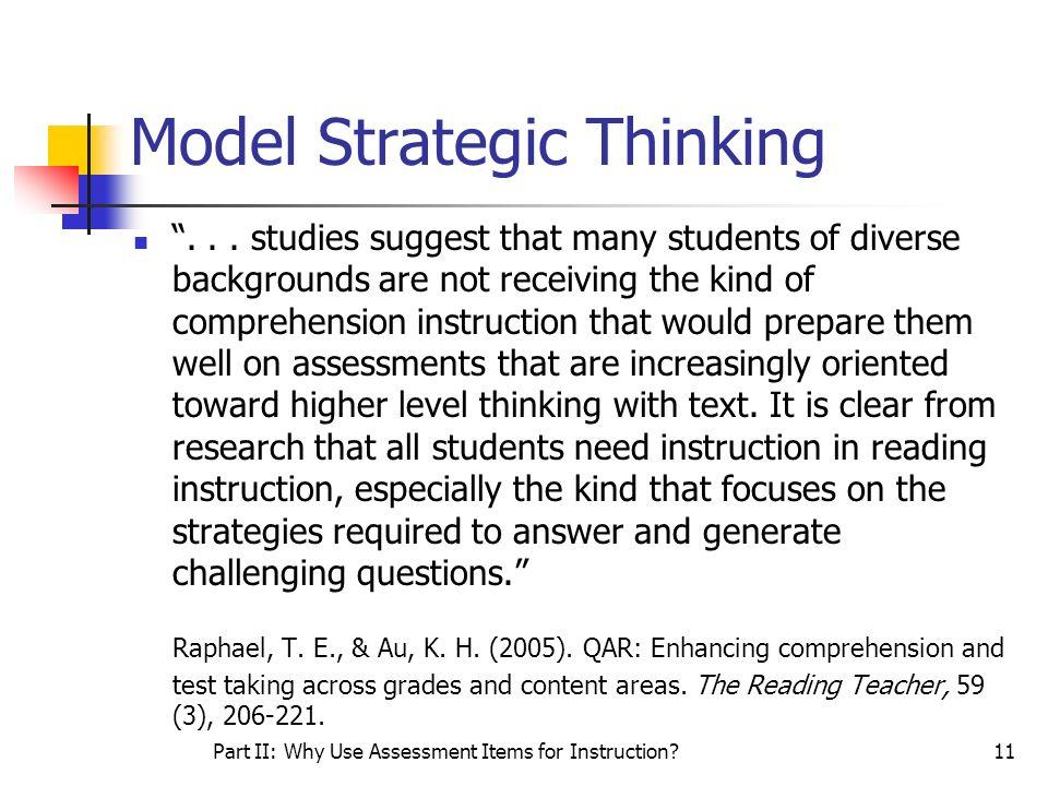 Model Strategic Thinking