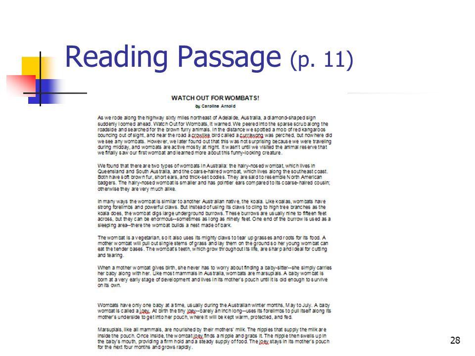 Part IV: NAEP Assessment Toolbox Strategies/Reading