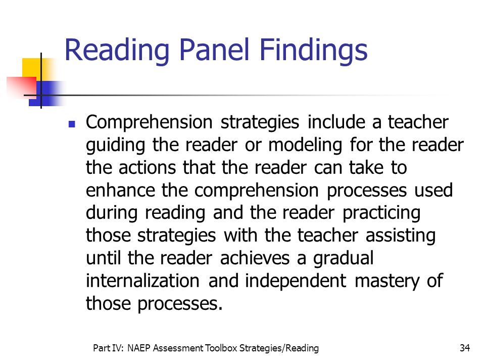 Reading Panel Findings