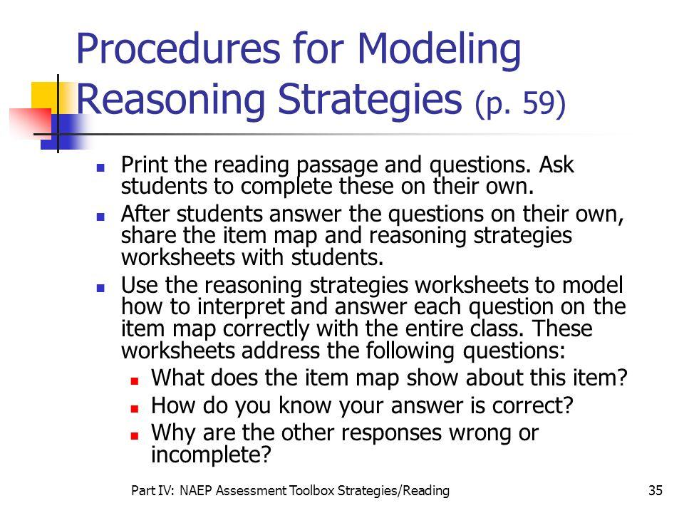 Procedures for Modeling Reasoning Strategies (p. 59)