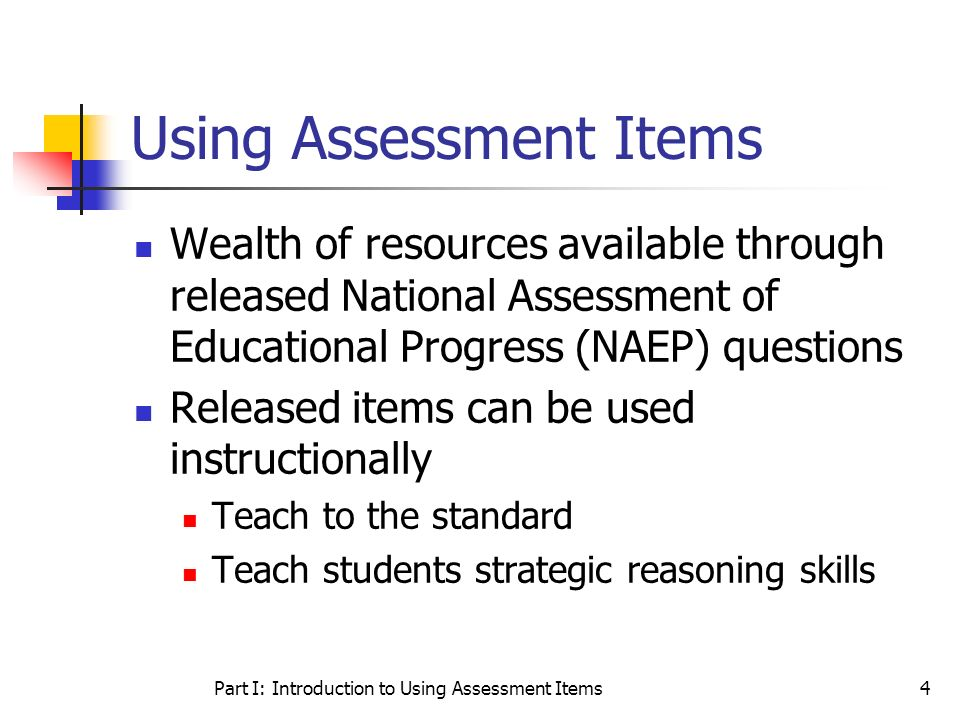 Using Assessment Items