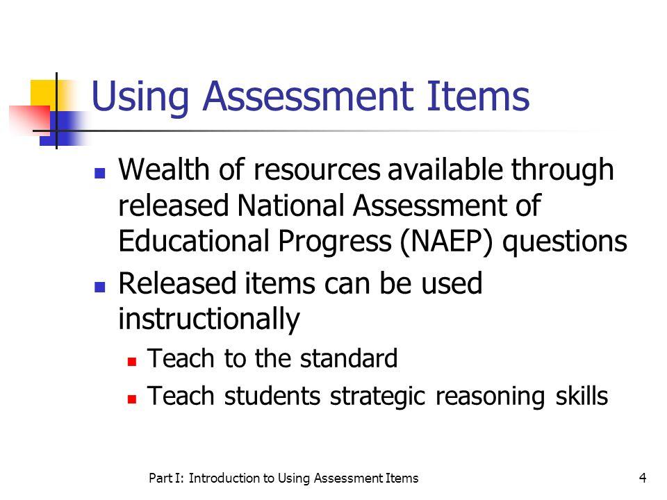 Using Assessment Items