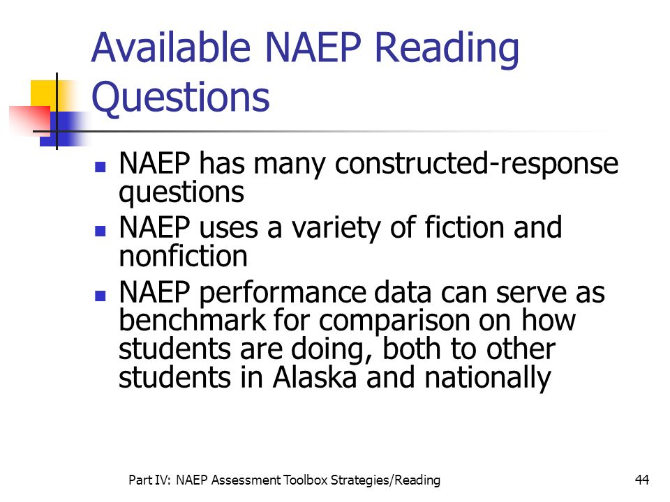 Available NAEP Reading Questions