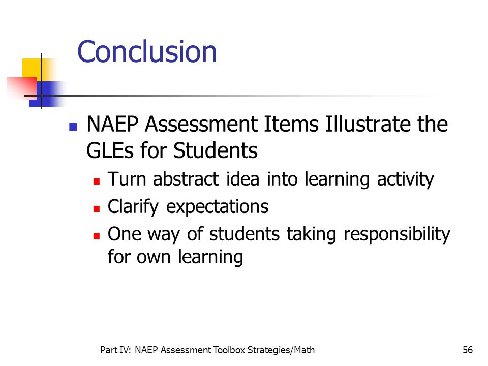 Part IV: NAEP Assessment Toolbox Strategies/Math