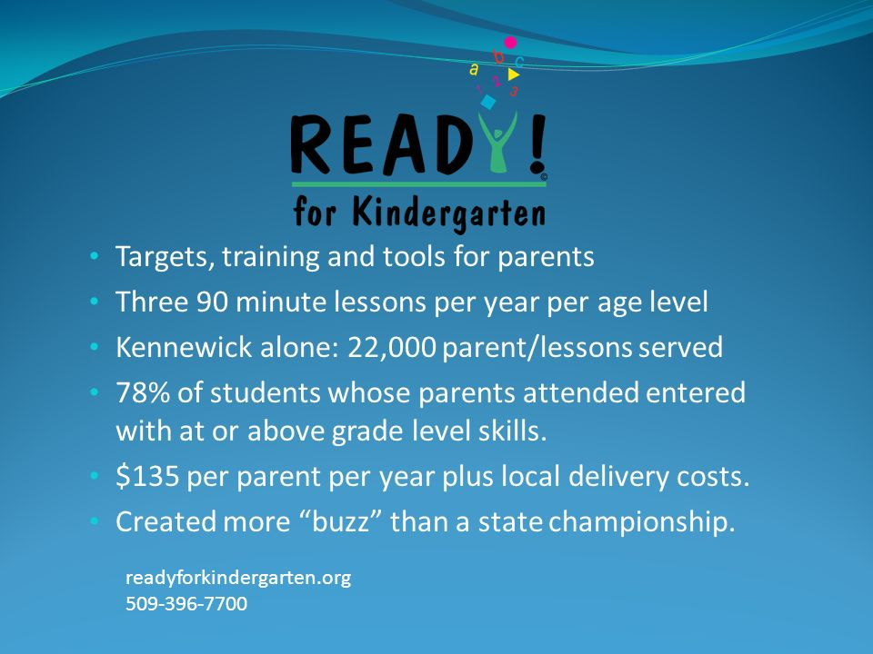 Targets, training and tools for parents