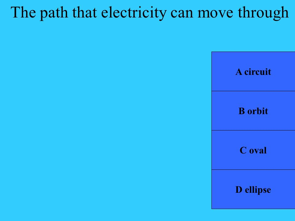 The path that electricity can move through