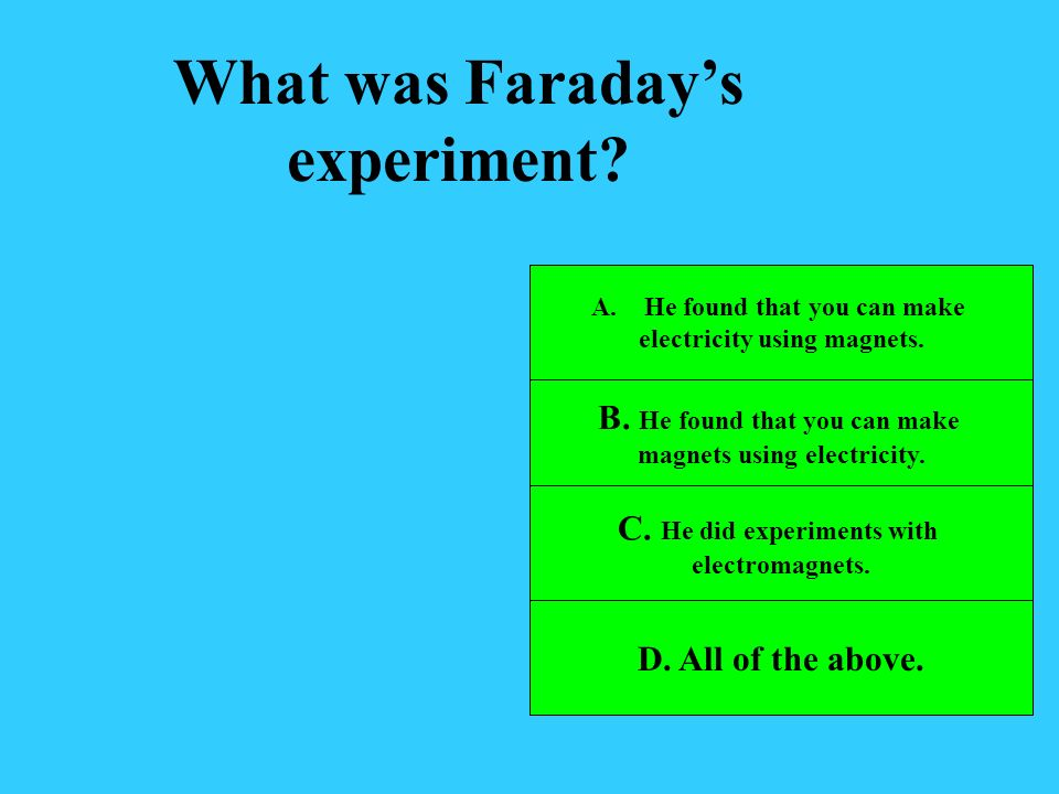 What was Faraday's experiment