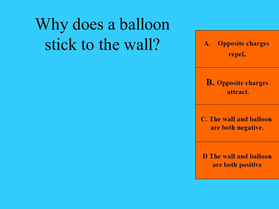 Why does a balloon stick to the wall
