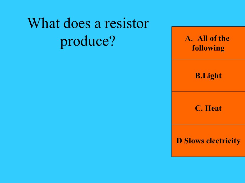 What does a resistor produce