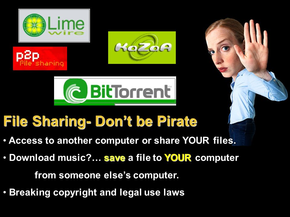 File Sharing- Don't be Pirate
