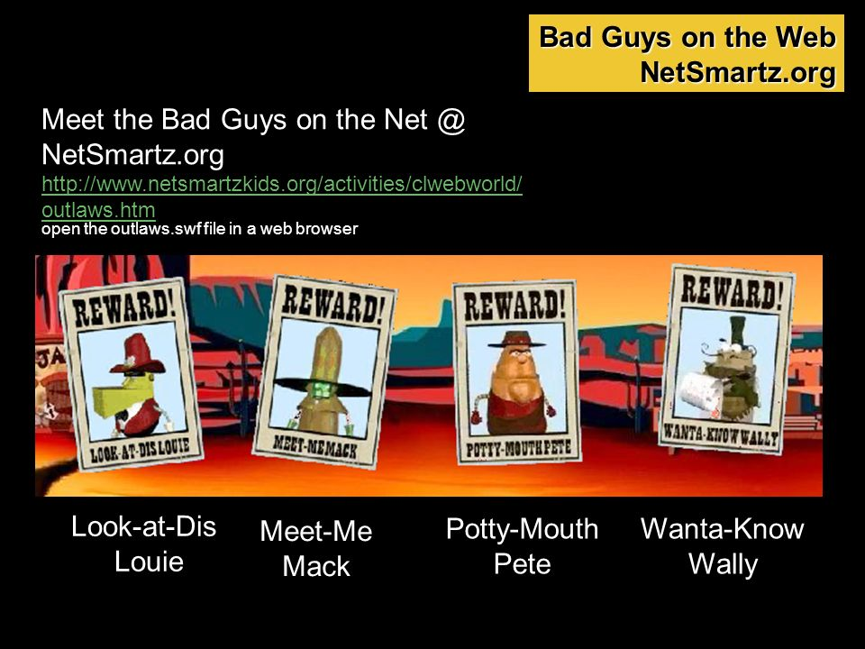 Meet the Bad Guys on the NetSmartz.org
