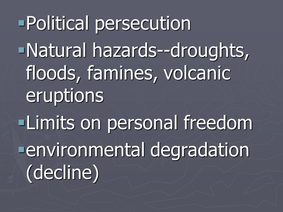 Political persecution