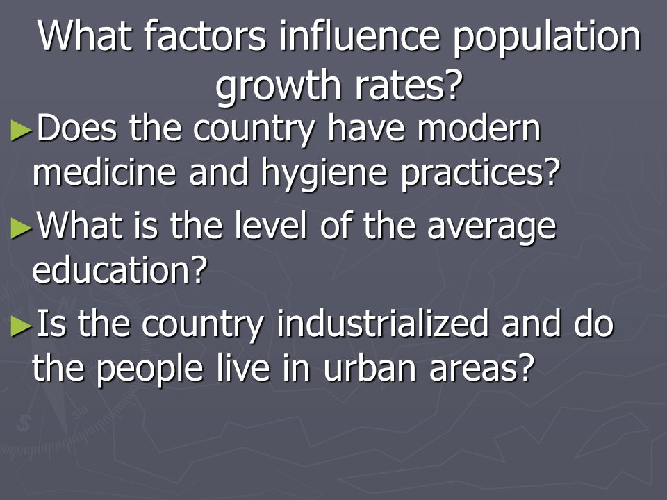 What factors influence population growth rates