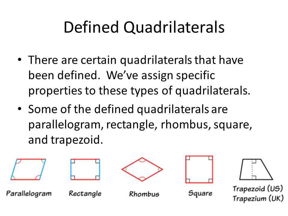 Defined Quadrilaterals