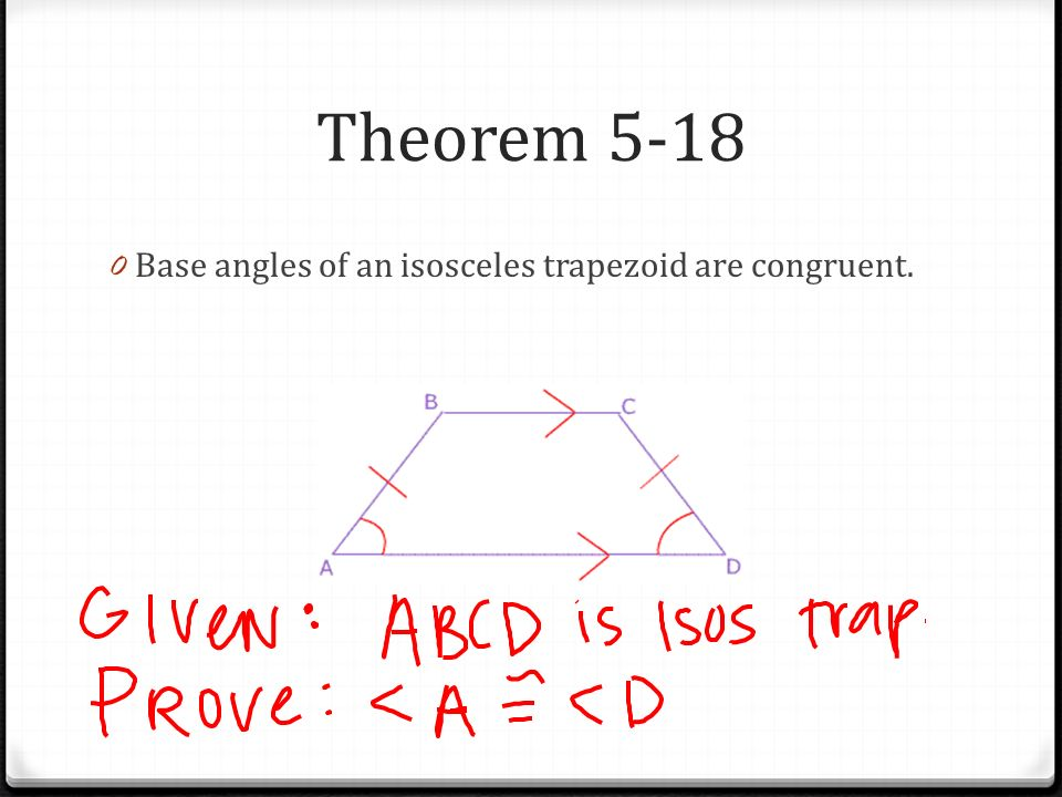 Isosceles Trapezoid Base Angles Parallelograms Chapter...