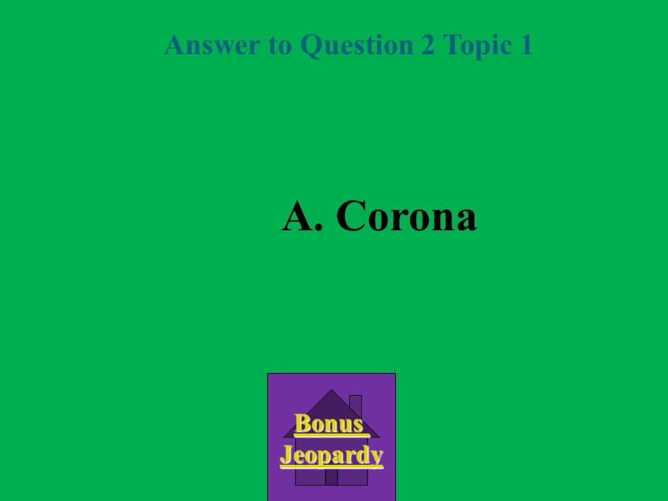 Answer to Question 2 Topic 1