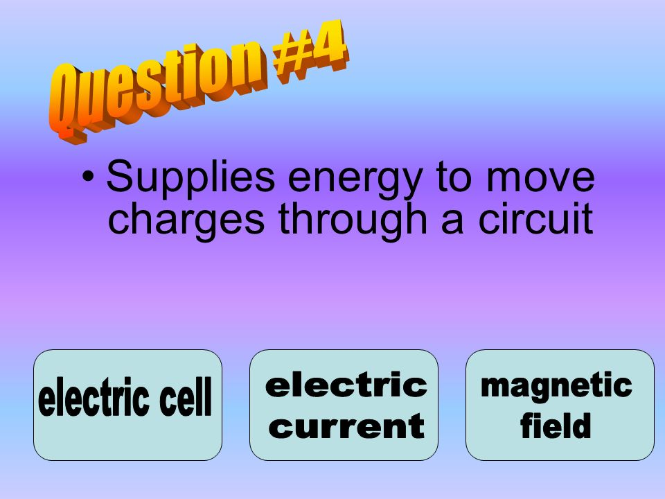 Supplies energy to move charges through a circuit