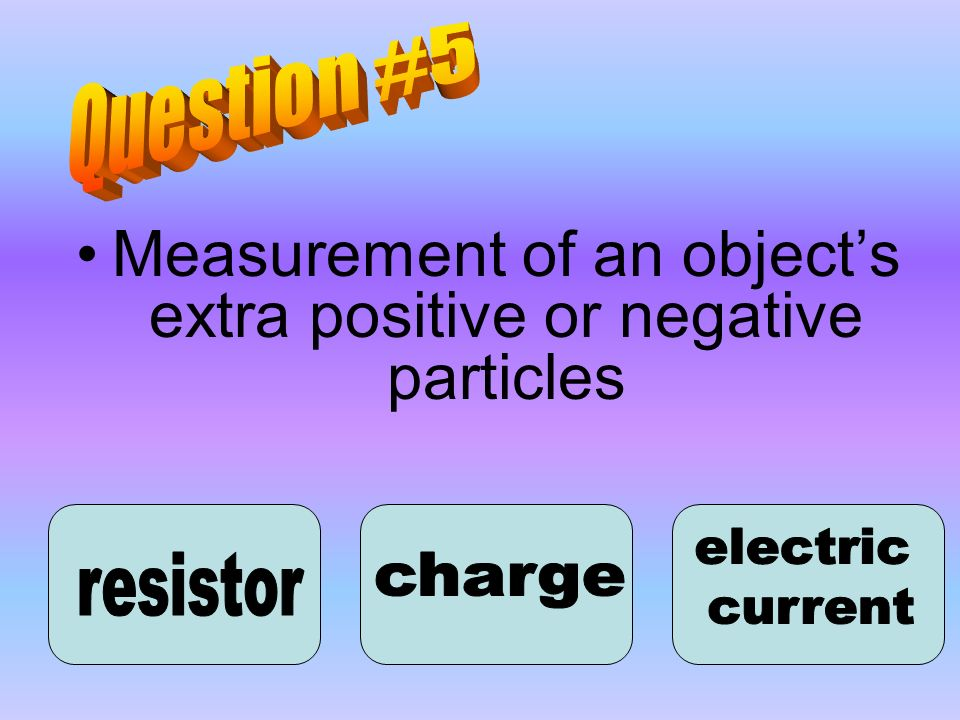 Measurement of an object's extra positive or negative particles