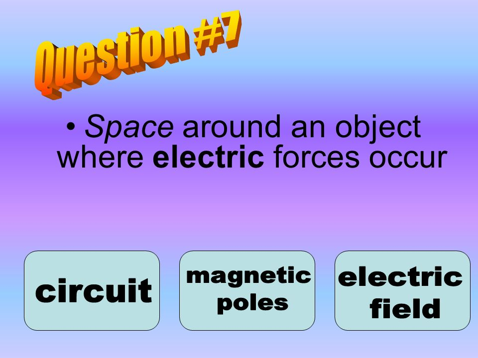 Space around an object where electric forces occur