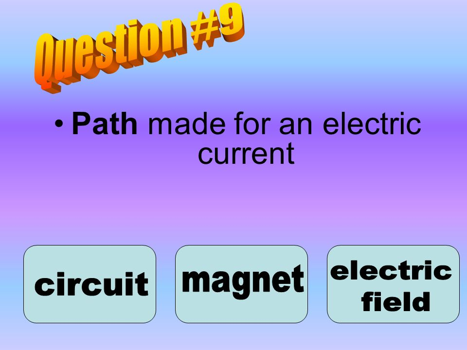 Path made for an electric current