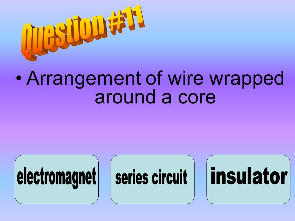 Arrangement of wire wrapped around a core