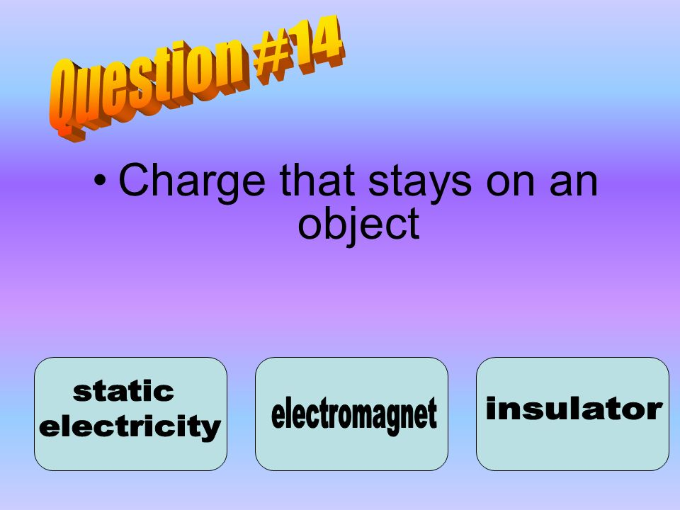 Charge that stays on an object