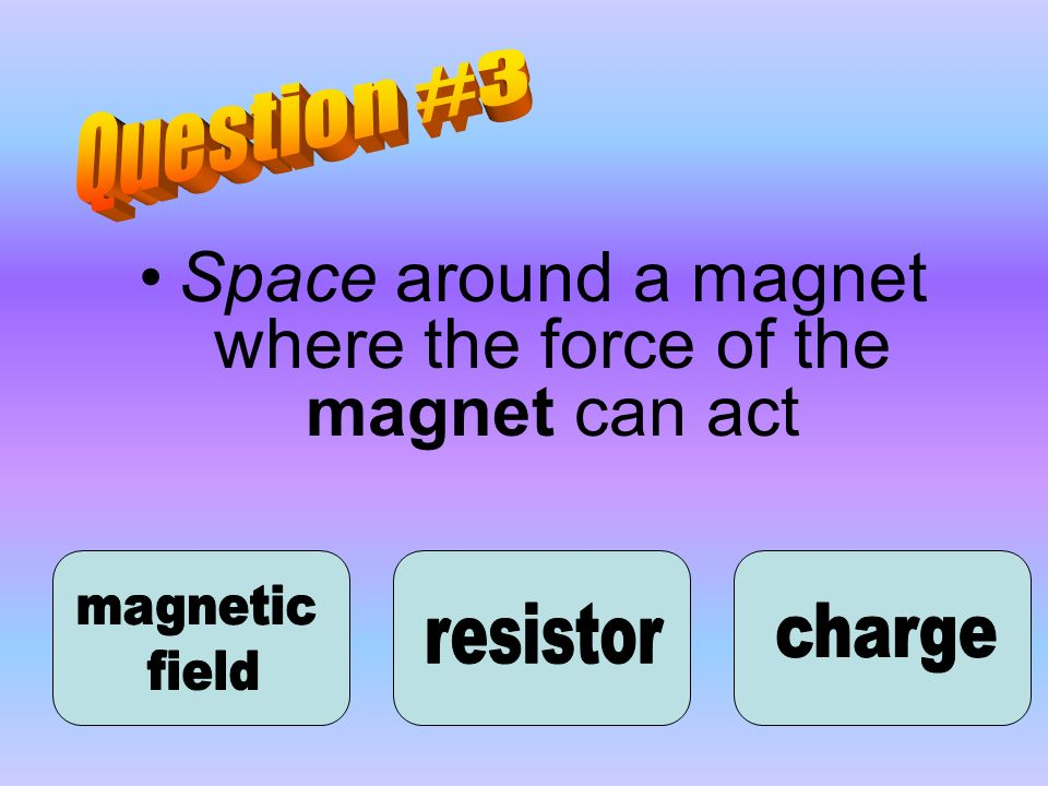 Space around a magnet where the force of the magnet can act