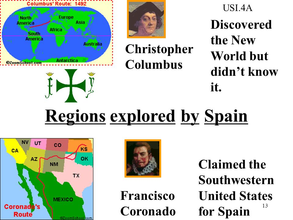 Regions explored by Spain
