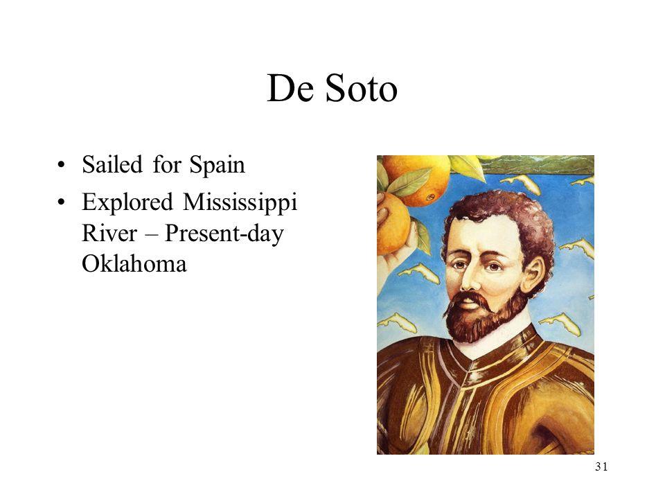 De Soto Sailed for Spain