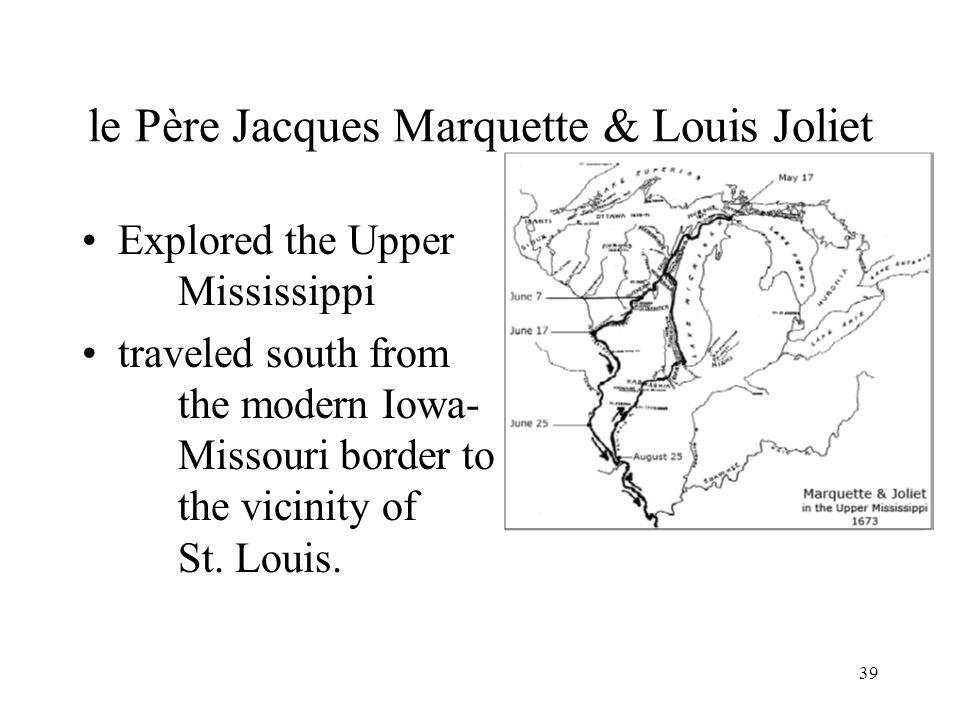 le Père Jacques Marquette & Louis Joliet