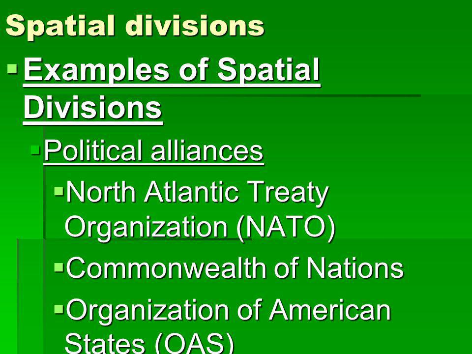 Examples of Spatial Divisions