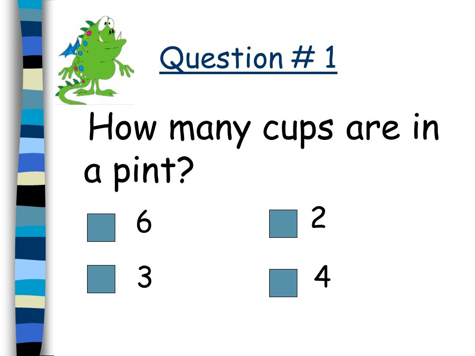 How many cups are in a pint