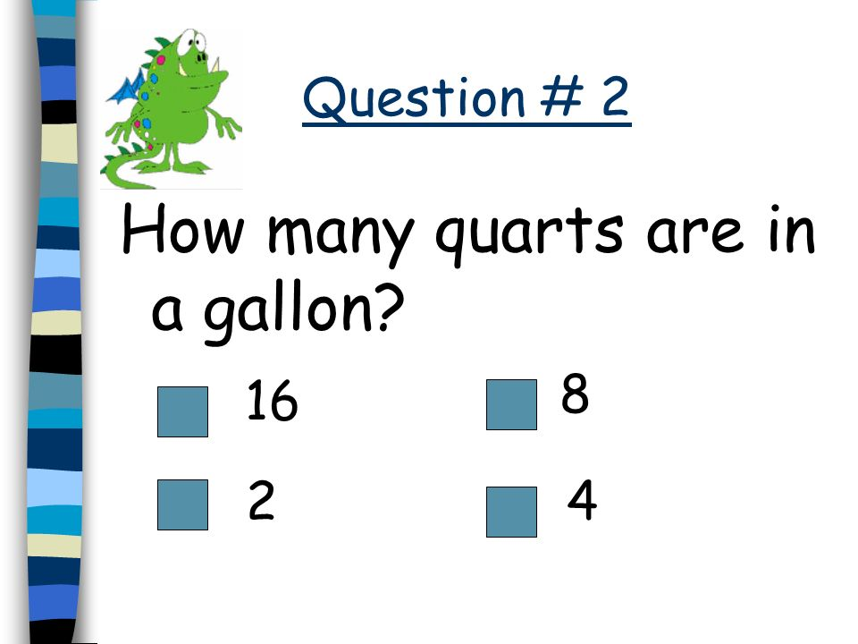 How many quarts are in a gallon