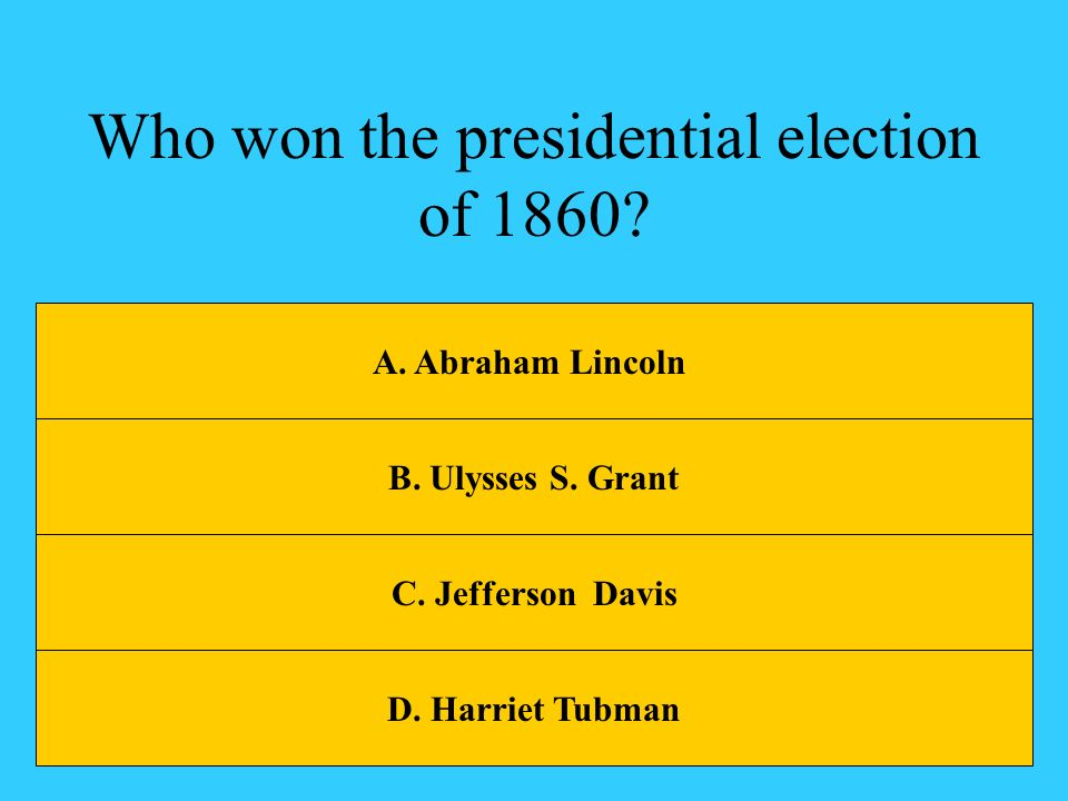 Who won the presidential election of 1860
