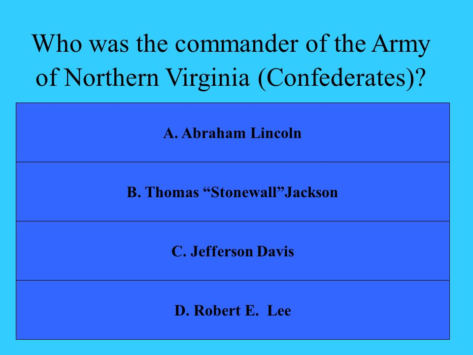 B. Thomas Stonewall Jackson