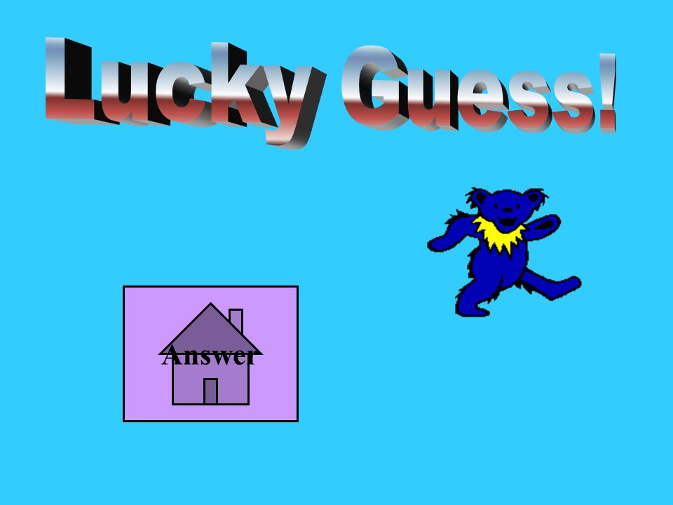 Lucky Guess! Answer