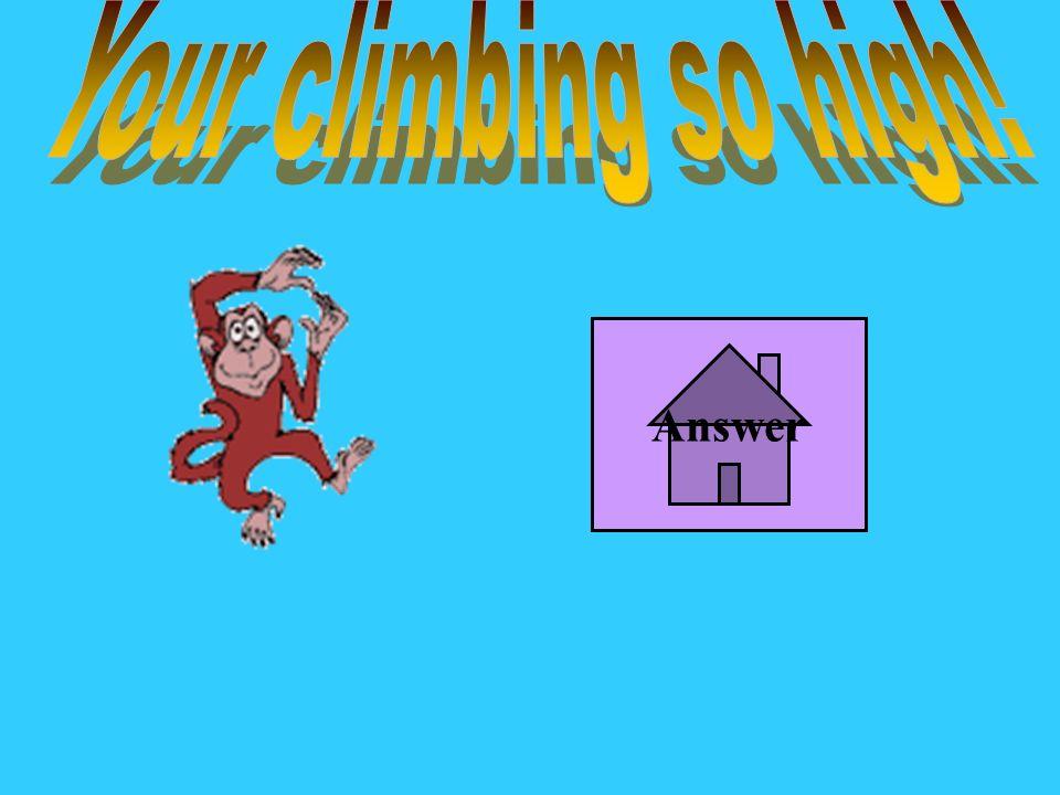 Your climbing so high! Answer
