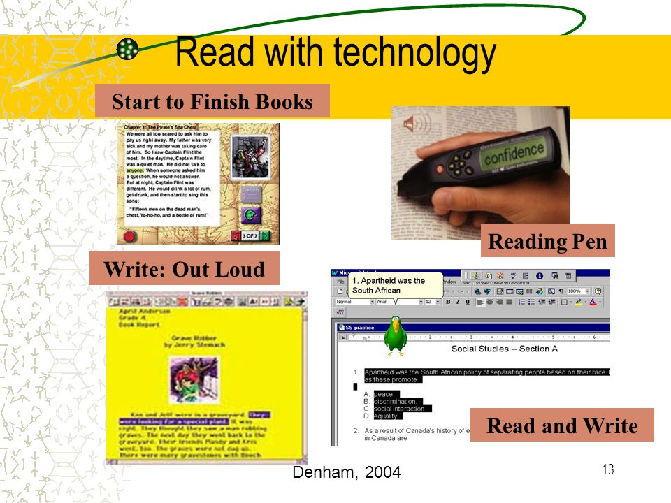 Read with technology Start to Finish Books Reading Pen Write: Out Loud