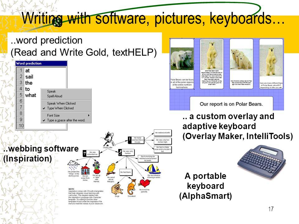 A portable keyboard (AlphaSmart)