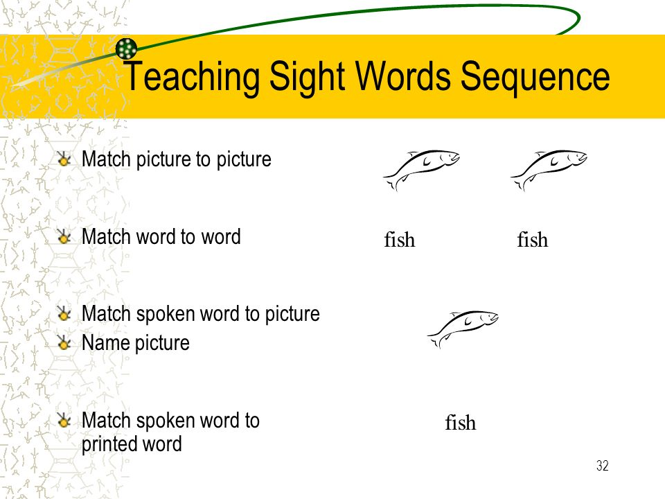 Teaching Sight Words Sequence