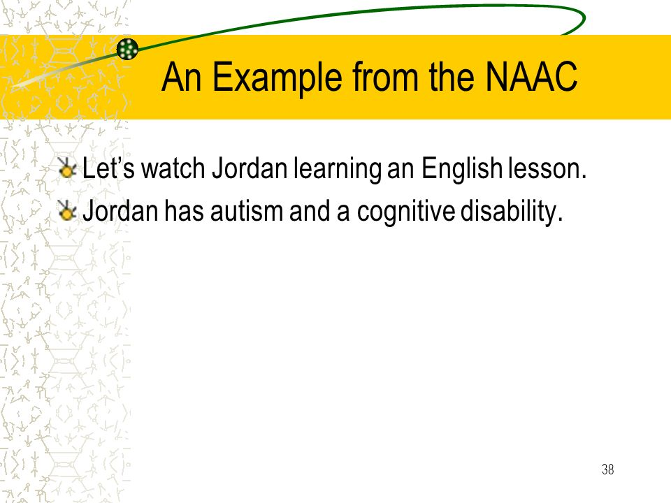 An Example from the NAAC