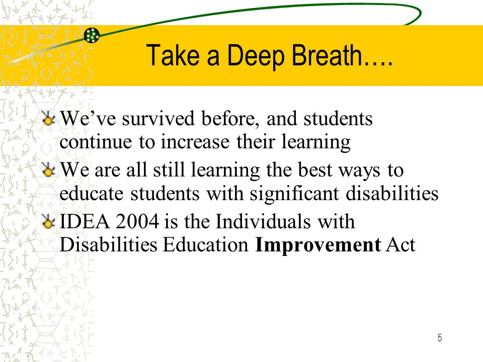 Take a Deep Breath…. We've survived before, and students continue to increase their learning.