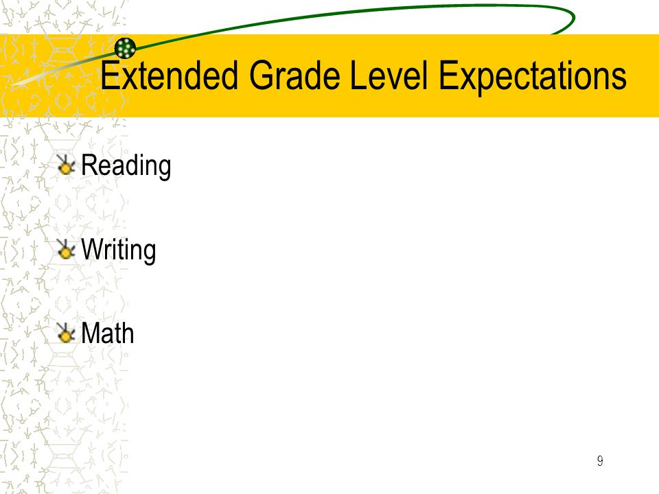 Extended Grade Level Expectations