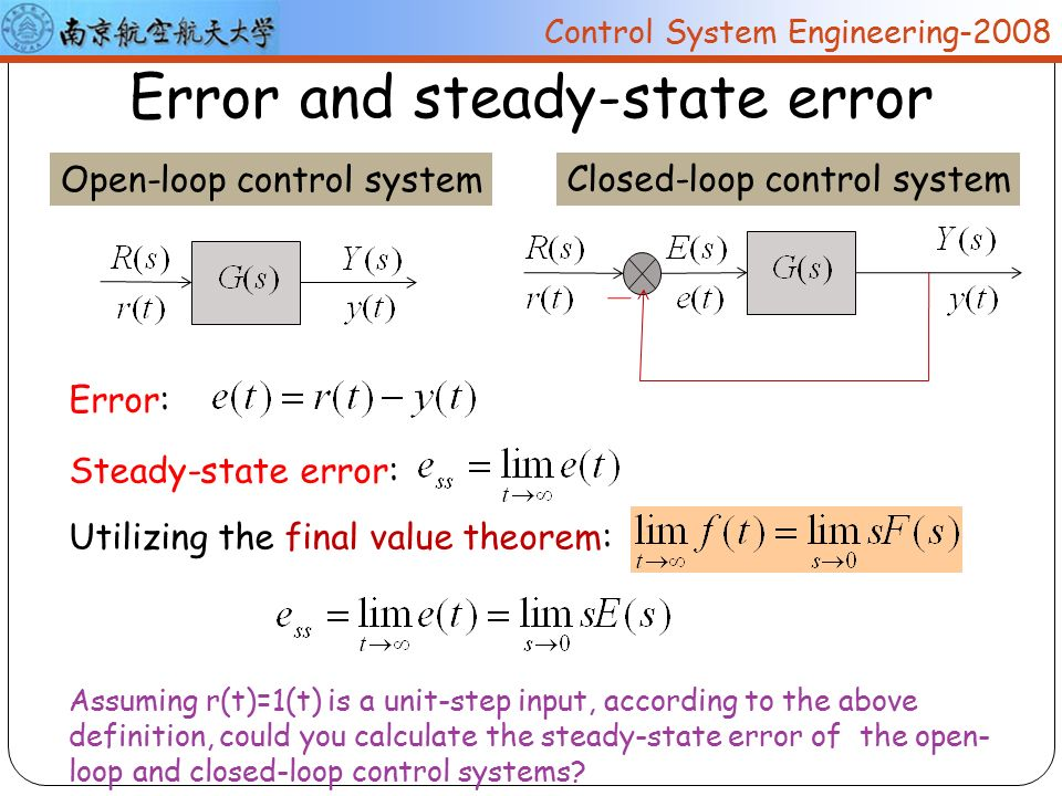 nuaa control system engineering ppt video online  93 error