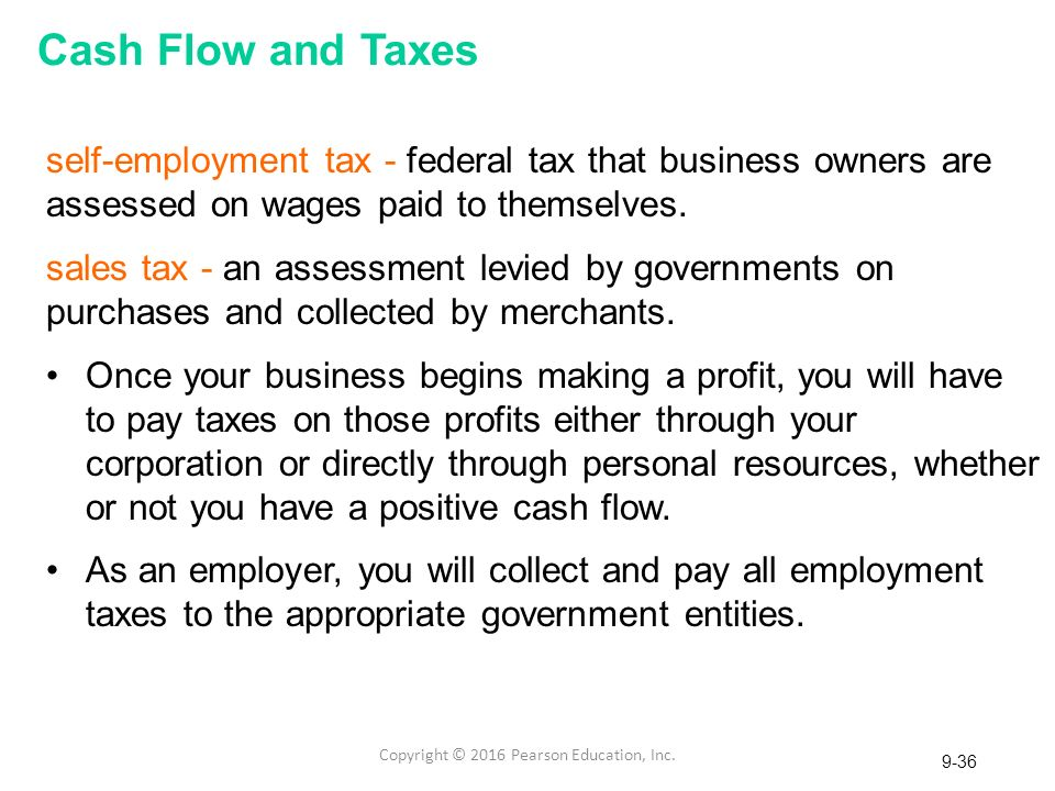 Chapter 9 Cash Flow and Taxes
