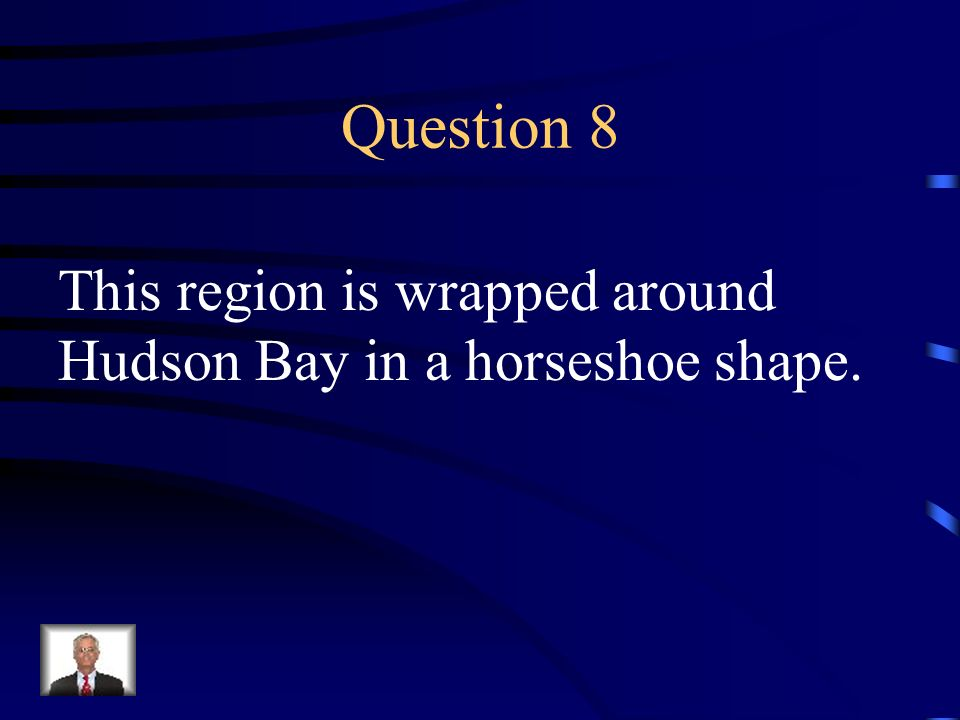 Question 8 This region is wrapped around