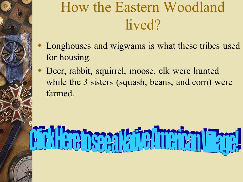 How the Eastern Woodland lived