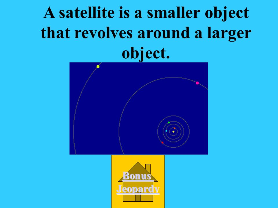 A satellite is a smaller object that revolves around a larger object.