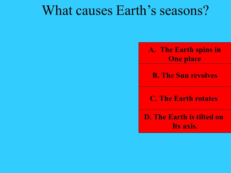 What causes Earth's seasons